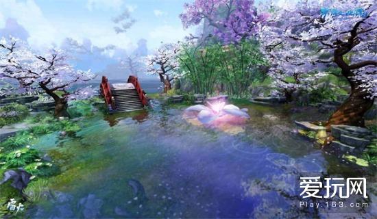唯美的曲水流觞场景 与好友畅叙幽情