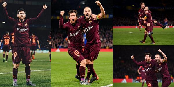 欧冠-威廉破门梅西扳平 切尔西主场1-1巴萨