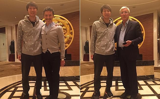 李铁聚首里皮 称为中国足球而奋斗!