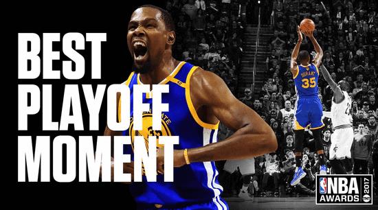 Kevin Durant獲最佳季後賽表現獎  3分顏射詹皇定冠軍歸屬(影)