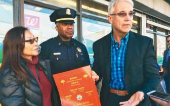 美地方检察长走访旧金山华裔聚居区 提醒防诈骗