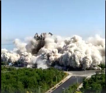 烂尾近10年 爆破仅15秒!昨天这4栋海景房被夷为平地