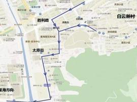 今起太原街、连胜街、成仁街交通调整