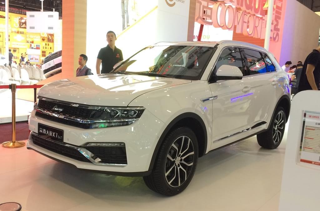 2017成都车展:众泰大迈X7 8AT车型亮相