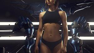 肌肉美女COS《守望先锋》法老之鹰 完美展现种族天赋