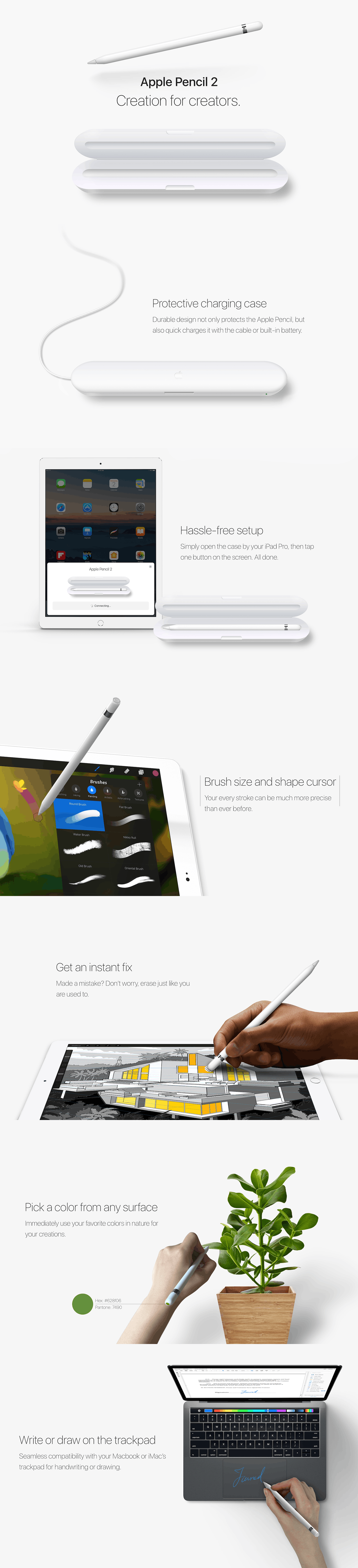 Apple Pencil久未更新 设计师设想2代新特性的照片