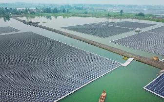 淮南150兆瓦水面漂浮光伏项目6月将竣工