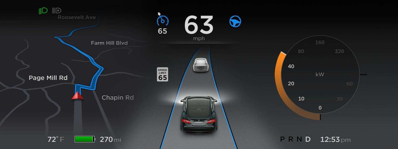 特斯拉Autopilot更新 增高速紧急制动等功能