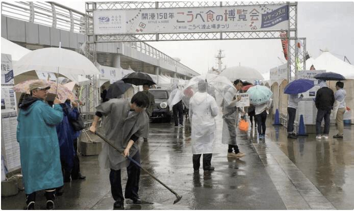 """台风密集""""访问""""日本多场活动取消 群众叫苦不迭"""