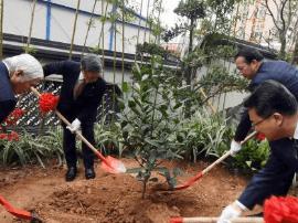 日本冲绳县友好代表团一行福州植树并祭拜琉球墓园