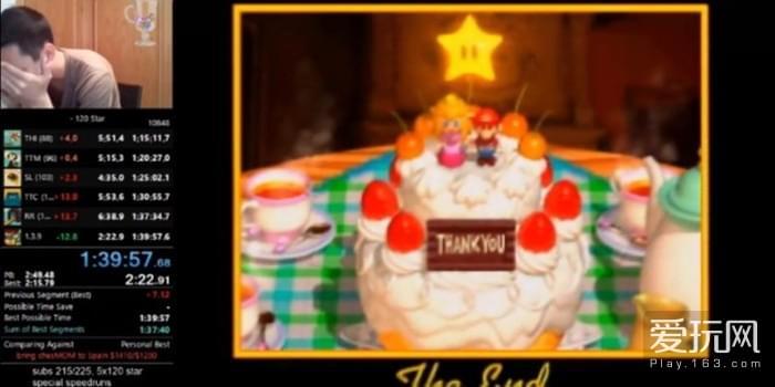《超级马里奥64》竞速通关者直播 终成功破纪录