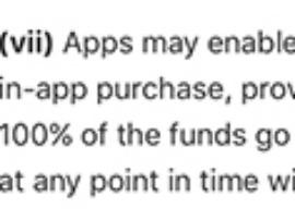 苹果正式取消内容打赏抽成:也不准微信等平台抽成