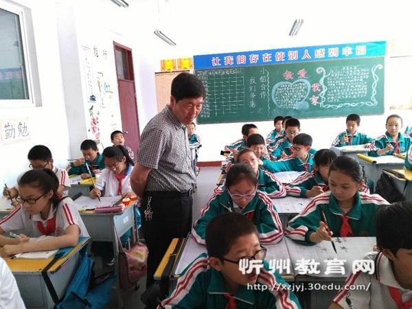 五台龙泉学校开展书法教学指导活动