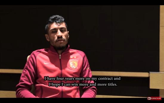 保利尼奥:我和恒大还有四年合同 要争夺更多冠军