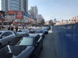 吉林珲春街地下商业街施工 解放中路有新管制