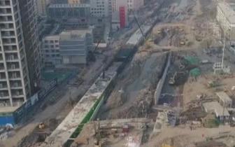 玉门河泵站加紧施工 文兴路口有望春节前通车
