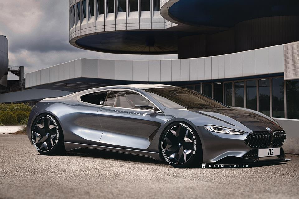 这会成为BMW的上限吗? M8 V12概念车渲染图