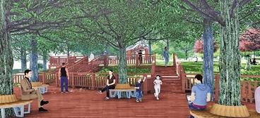 照母山森林公园升级改造再添新美景