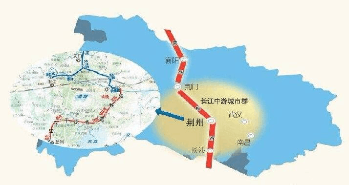 荆荆铁路建成后 荆州到荆门串门仅需20分钟