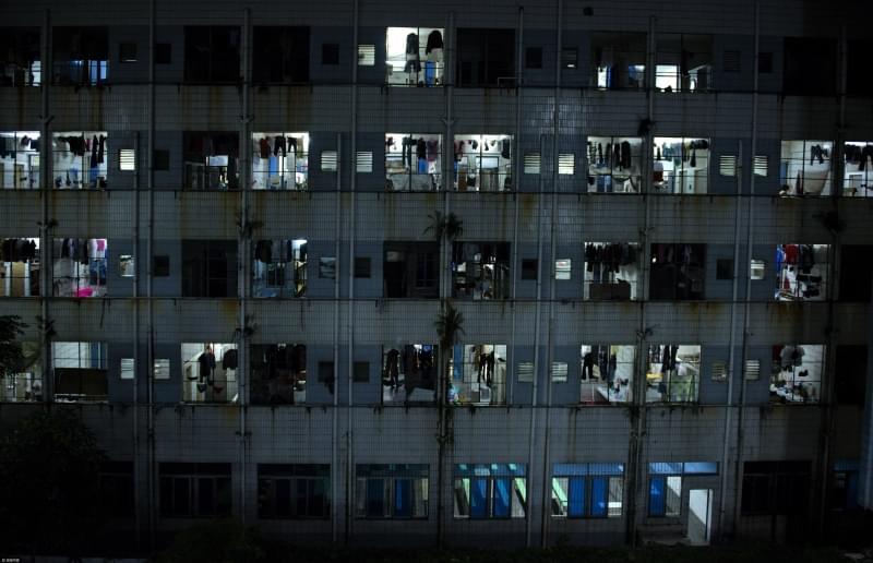 东莞工业区的夜景
