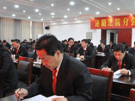 泌阳县法院传达学习贯彻十九大精神