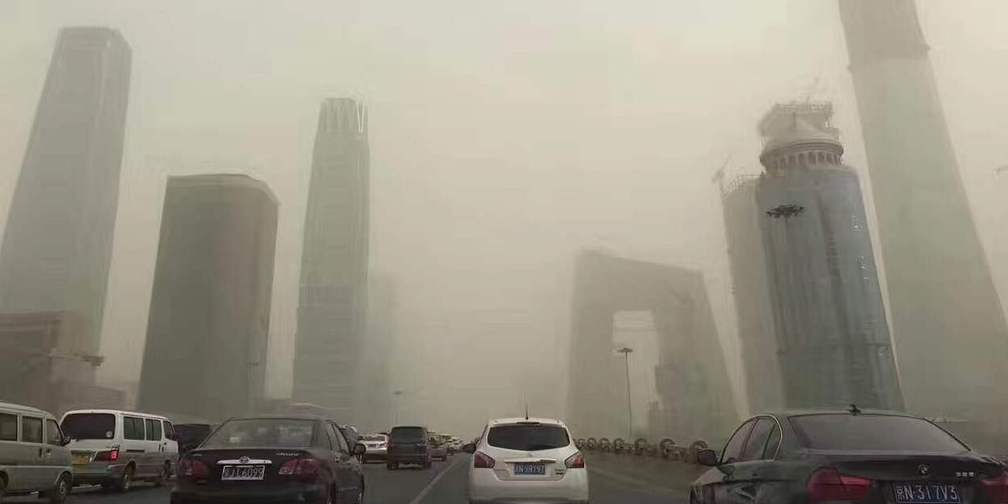 北京网友拍沙尘天气,最后一张对比图亮了