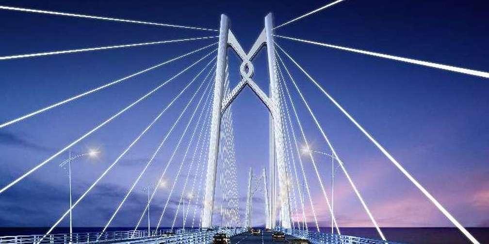 今晚!港珠澳大桥亮灯跨年啦!!!
