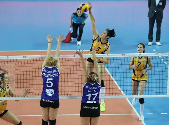 朱婷18分得分王 瓦基弗3-0夺欧冠小组赛五连胜