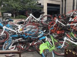 小区旁冒出废品收购站 30多辆共享单车被当废品卖