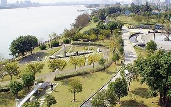 """福州:串珠公园 点缀榕城的""""绿色珍珠"""""""