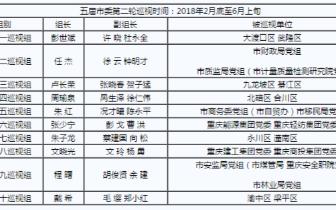 重庆第二轮巡视启动 对20个地区(单位)开展巡视