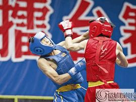 第三届传统武术暨散打擂台赛在运城市体育馆举行