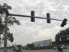 """大朗这交通信号灯总是被撞 市民都说它""""太矮了"""""""