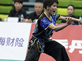 陈惠颖获武术套路女子南拳南刀南棍全能冠军