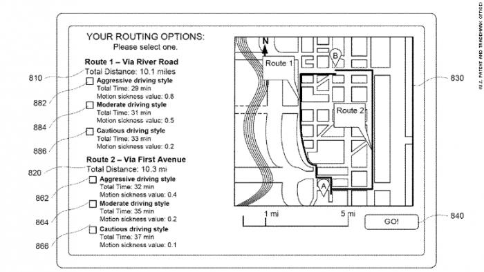 Waymo申请无人驾驶新专利:调整驾驶风格防止晕车