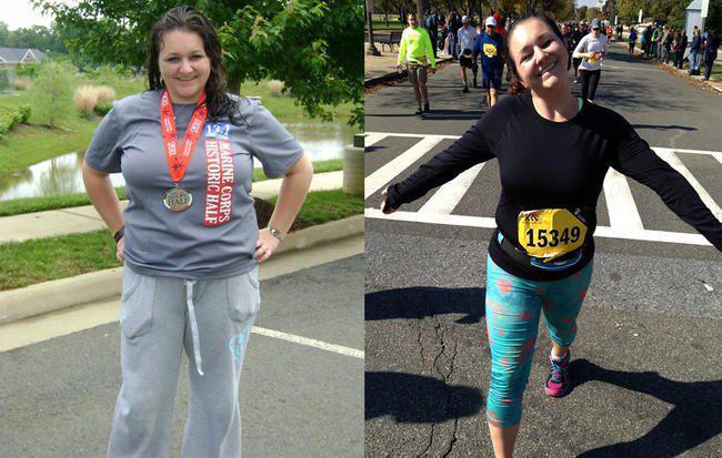 没人相信208斤的她能跑全马 结果……