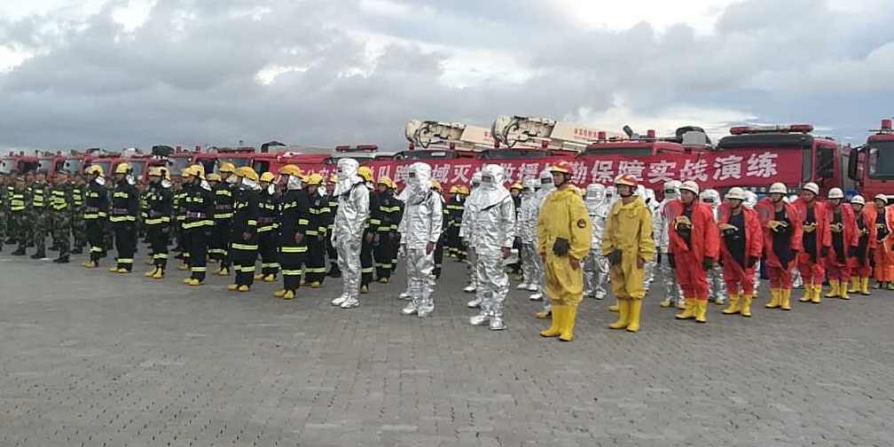 广西消防救援及战勤保障力量拉动演练
