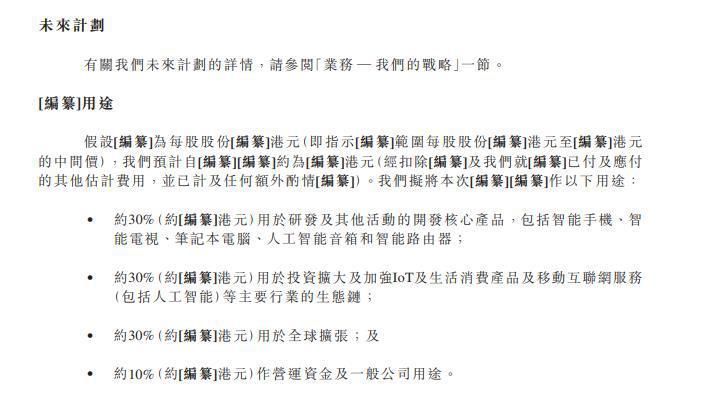 小米递交香港IPO招股书 将是2014年来全球最大IPO