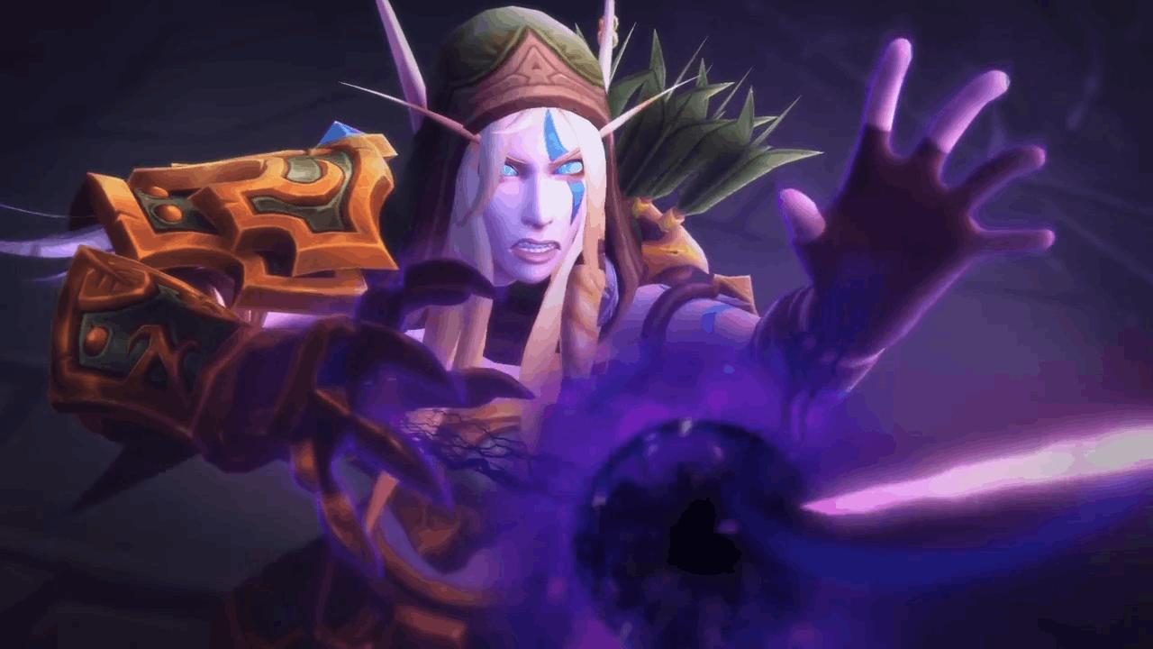 魔兽7.3执政团之座开场动画 奥蕾莉亚进入虚空形态