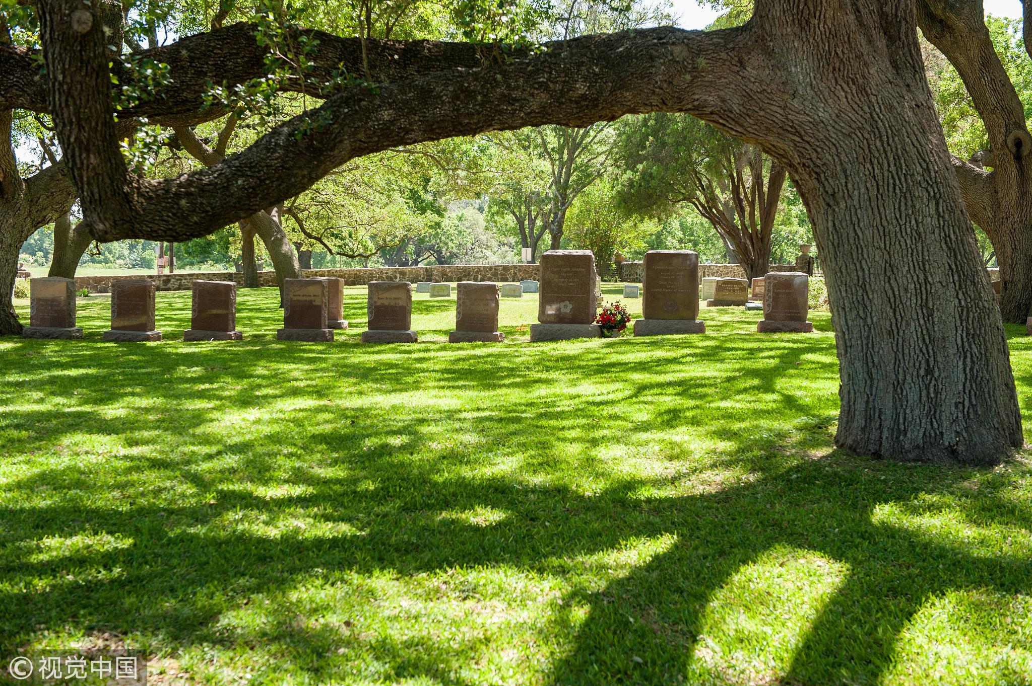 2017年5月16日,美国德克萨斯州约翰逊总统家族墓园。/视觉中国