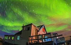 南格陵兰纳萨克极光舞之夜