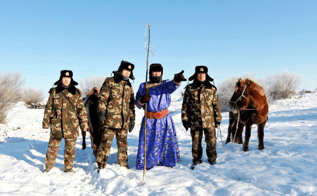 蒙古包哨所歌声飘扬