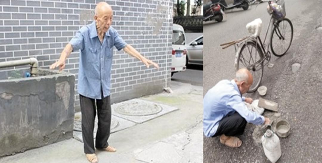 8旬老人义务修路50年 经常修到深夜