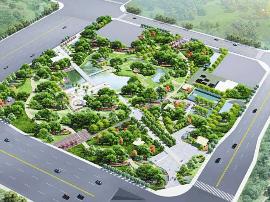 小店区东篱公园开建  相当于文瀛公园一半大小