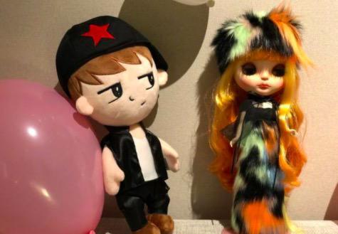李晨与范冰冰形象的玩偶