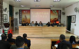 龙山镇召开清明节期间森林防火 工作会议