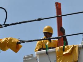 榕电网负荷再创新高 抢修人员带电作业减少停电