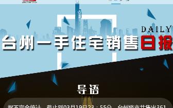 2018年3月19日台州市一手住宅成交360套