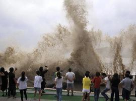 """【图】受""""泰利""""影响浙江沿海出现8-11级大风"""