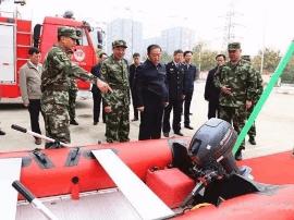 运城市委书记刘志宏带队慰问十九大消防安保官兵